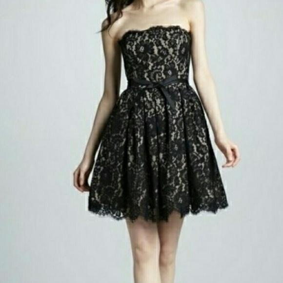 Robert Rodriguez Dresses Black Lace Strapless Dress Poshmark